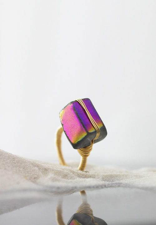 Ishi Rainbow Quartz Ring