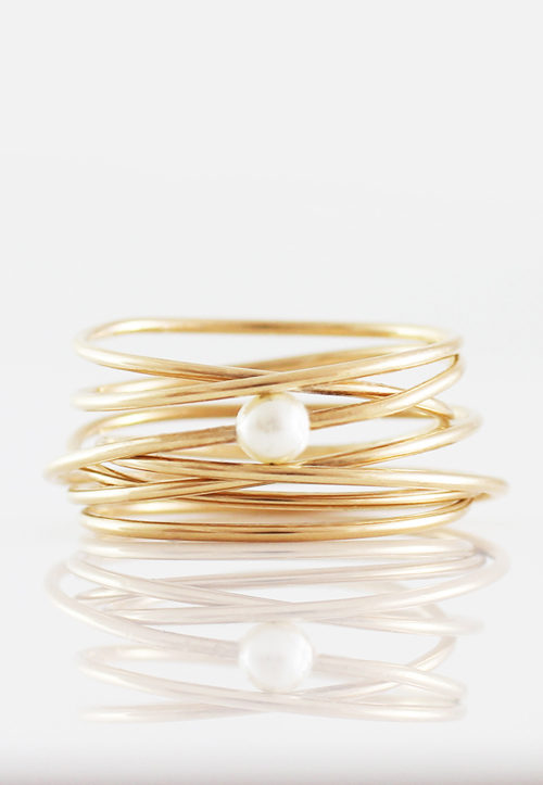 Karma Multiband Pearl Ring