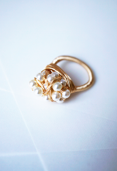 Sophia 20 Pearl Wrapped Ring Brave Chick
